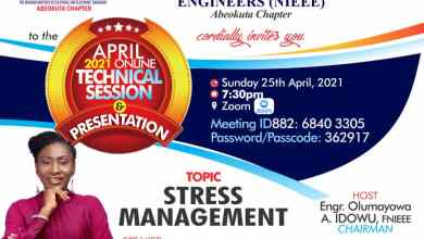 Photo of Professionals charged on stress management at NIEEE Abeokuta technical session