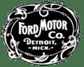 Το λογότυπο της αυτοκινητοβιομηχανίας Ford, όπως έχει εξελιχθεί με το πέρασμα του χρόνου.
