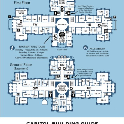 Capitol Building - Ground First Floors (Rm # G and 1)