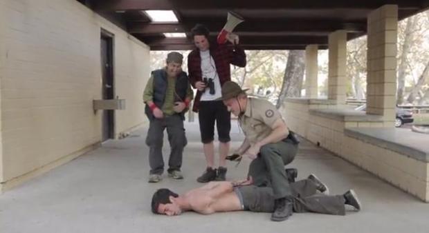 "Back: Arnie Pantoja, Keith Pratt Brandon and Ryan Gowland. Bottom: Brandon Henry Rodriguez. Photo courtesy of ""The Human Condition."""