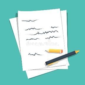 Pila De Hojas De Papel Con El Texto Escrito Abstracto Ilustración del  Vector - Ilustración de pila, abstracto: 81108674