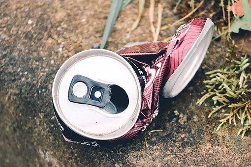 Bebida, Basura, Residuos, De Metal