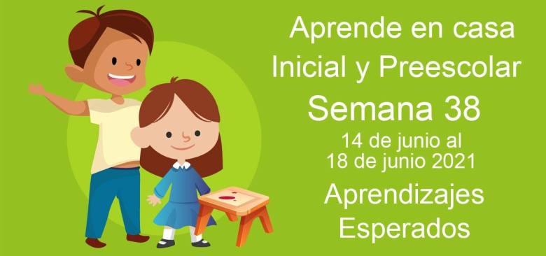 Aprende en casa Educación Inicial semana 38 del 14 de junio al 18 de Junio 2021 clases y actividades