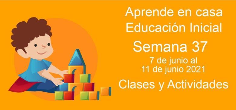 Aprende en casa Educación Inicial semana 37 del 7 de junio al 11 de Junio 2021 clases y actividades