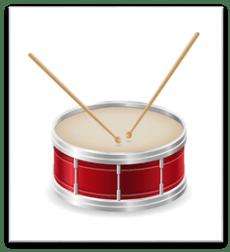 Tambor instrumentos musicales stock vector ilustración | Vector Premium