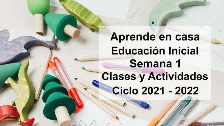 Aprende en casa Educación Inicial semana 1 del 30 de agosto al 3 de Septiembre 2021 clases y actividades