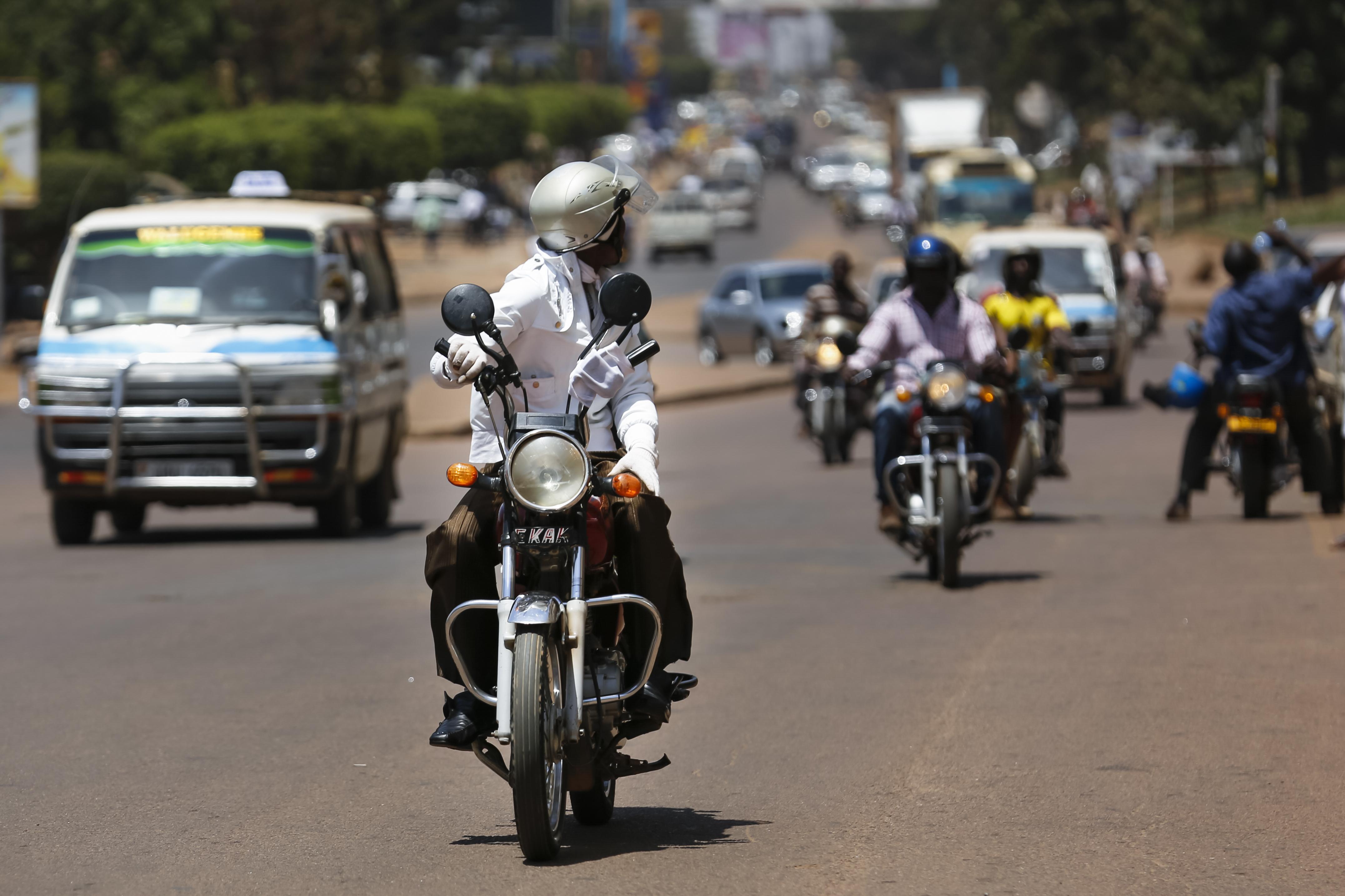 SafeBoda motorbike taxi in Uganda