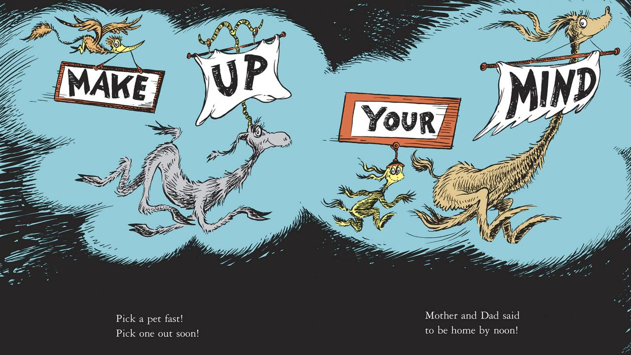 Seuss Make Up Your Mind