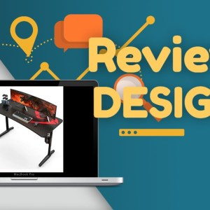 Review: DESIGNA 60 inch Gaming Desk, Computer Desk with Mouse Pad, T-Shaped Professional Writin...