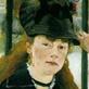 Imagen de un cuadro impresionista que muestra una mujer