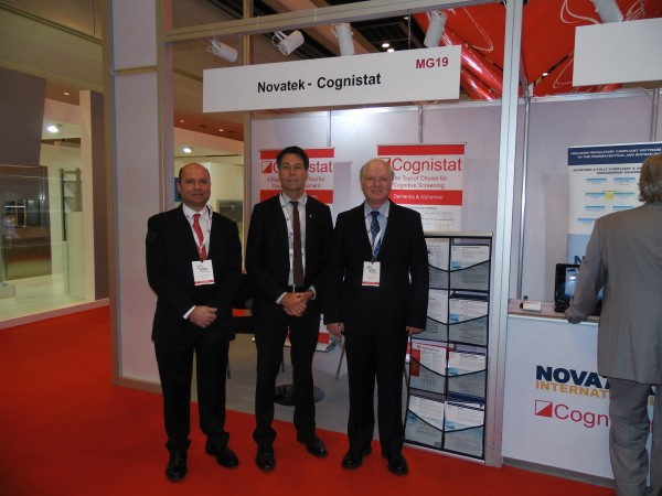 From left to right: President & CEO of Novatek, Parsa Famili with Minister of Health and Long-Term Care of Ontario, Canada, Dr. Eric Hoskins and Sr. Manager at Cognistat, Dr. Fortunato Maganaro