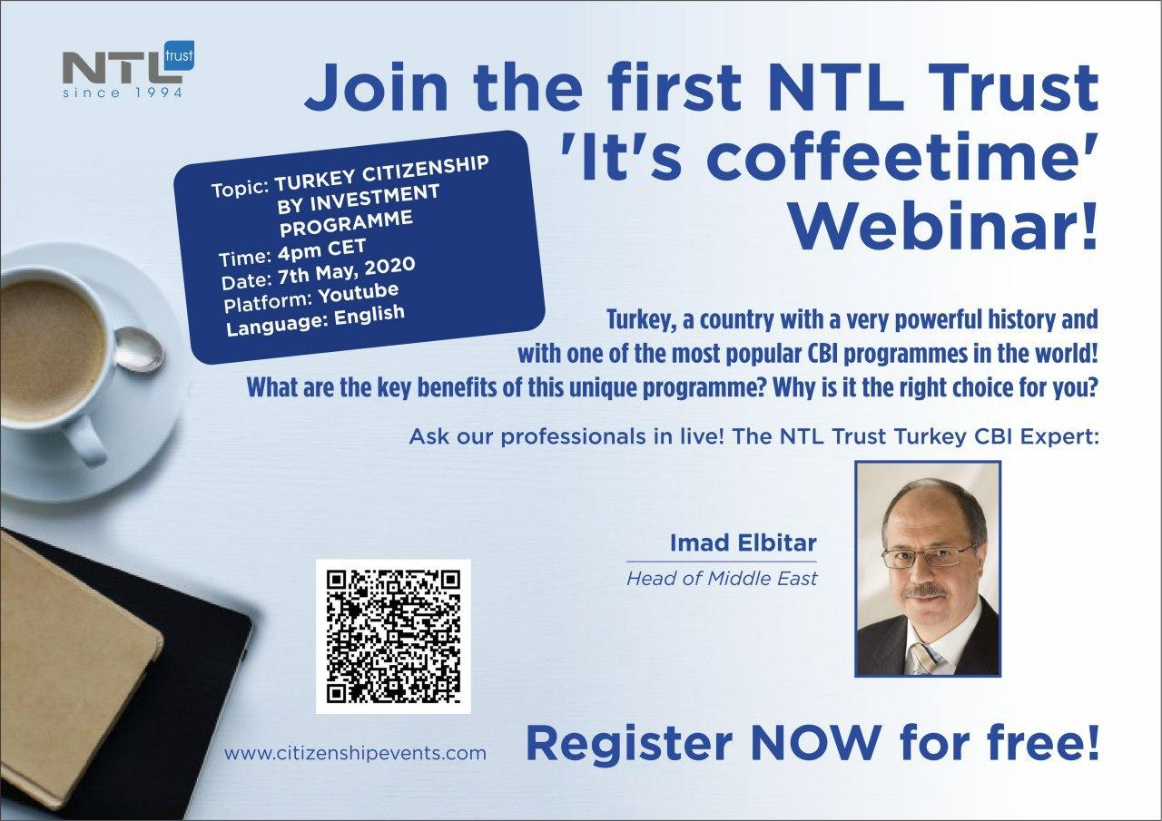 NTL Webinar about the Turkish Citizenship by Investment program