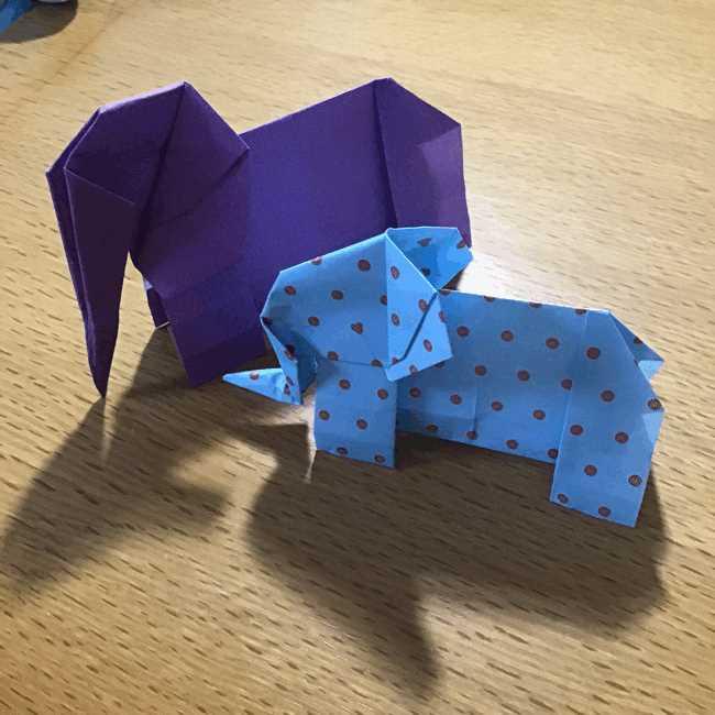 折り紙立体ゾウの折り方