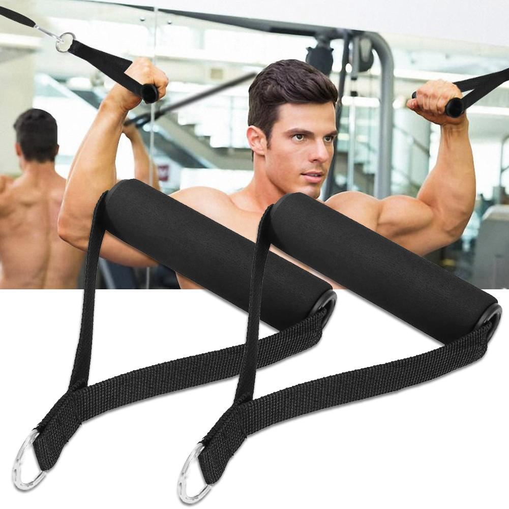 1Pc Strength Training Body Building Fitness Accessories Elastic Band Handle