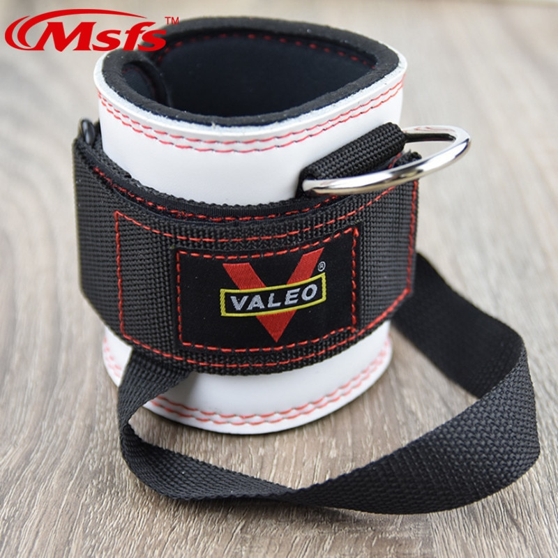 Cowhide Leather Ankle Supporting Strap High Quality Gym Fitness Training Weight Lifting Attach Ankle Support Strap