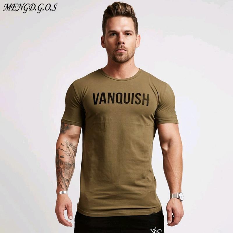 Jogger Gym Men s Sportswear Summer Streetwear Casual Men s T shirt Fitness Sports Brand Men