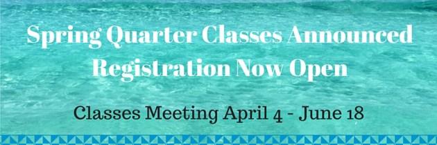 Spring Quarter Courses redirect