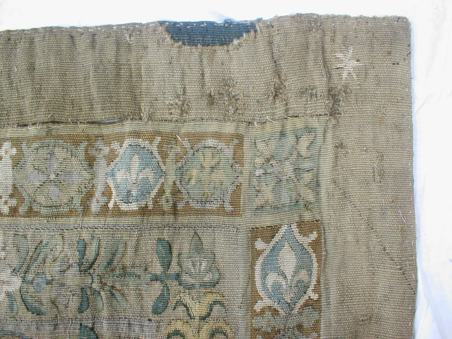 Six pointed star on tapestry c.