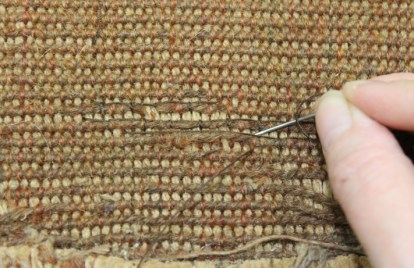 Reverse couching ©National Trust/Textile Conservation Studio