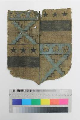 Gideon shield before conservation ©National Trust/Textile Conservation Studio