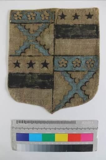 Gideon shield after conservation ©National Trust/Textile Conservation Studio