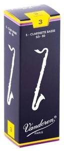 Vandoren Traditional Bass Clarinet Reeds Strength 3 Box of 5