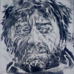 Mariner drypoint etching - John Keating - Nua Collective - Artist