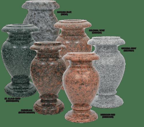 5x9 Granite vases