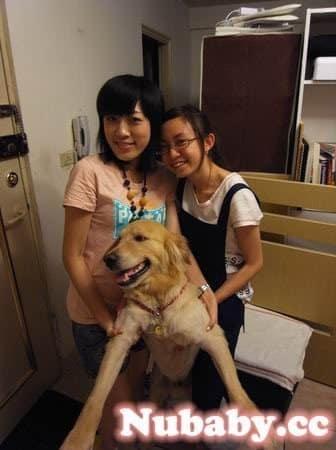 店狗Yuka-與客人在指甲店的合照