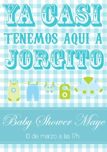 Invitaciones para Baby Showers