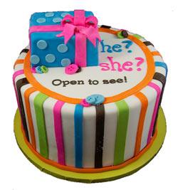 tarta para desvelar el sexo del bebe 3