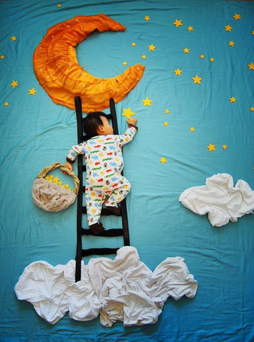 Las aventuras de un bebé durmiendo