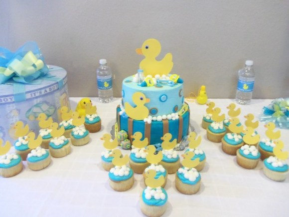 Baby Shower con un patito de goma