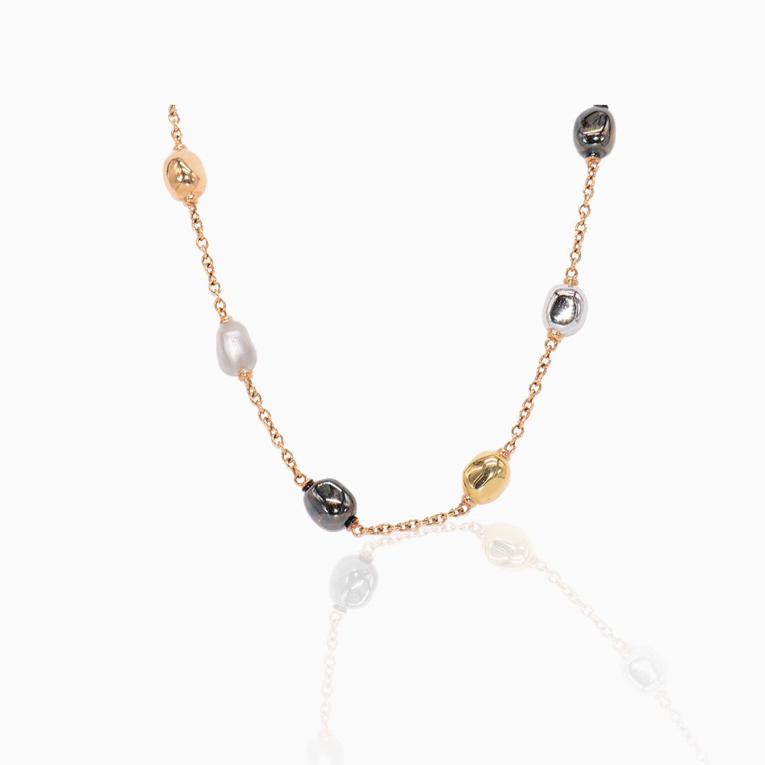Collar de Oro, Oro Rosa, Oro Blanco y Oro Negro