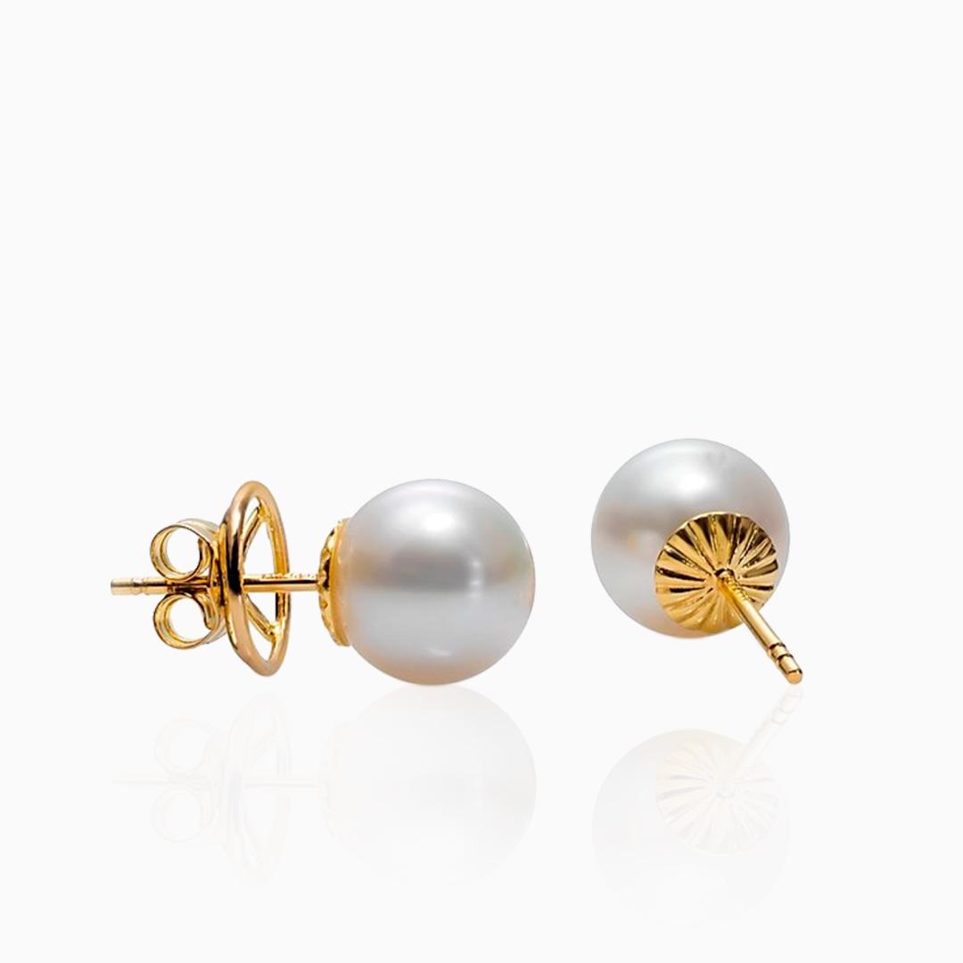 Pendientes Perlas Australianas de Oro
