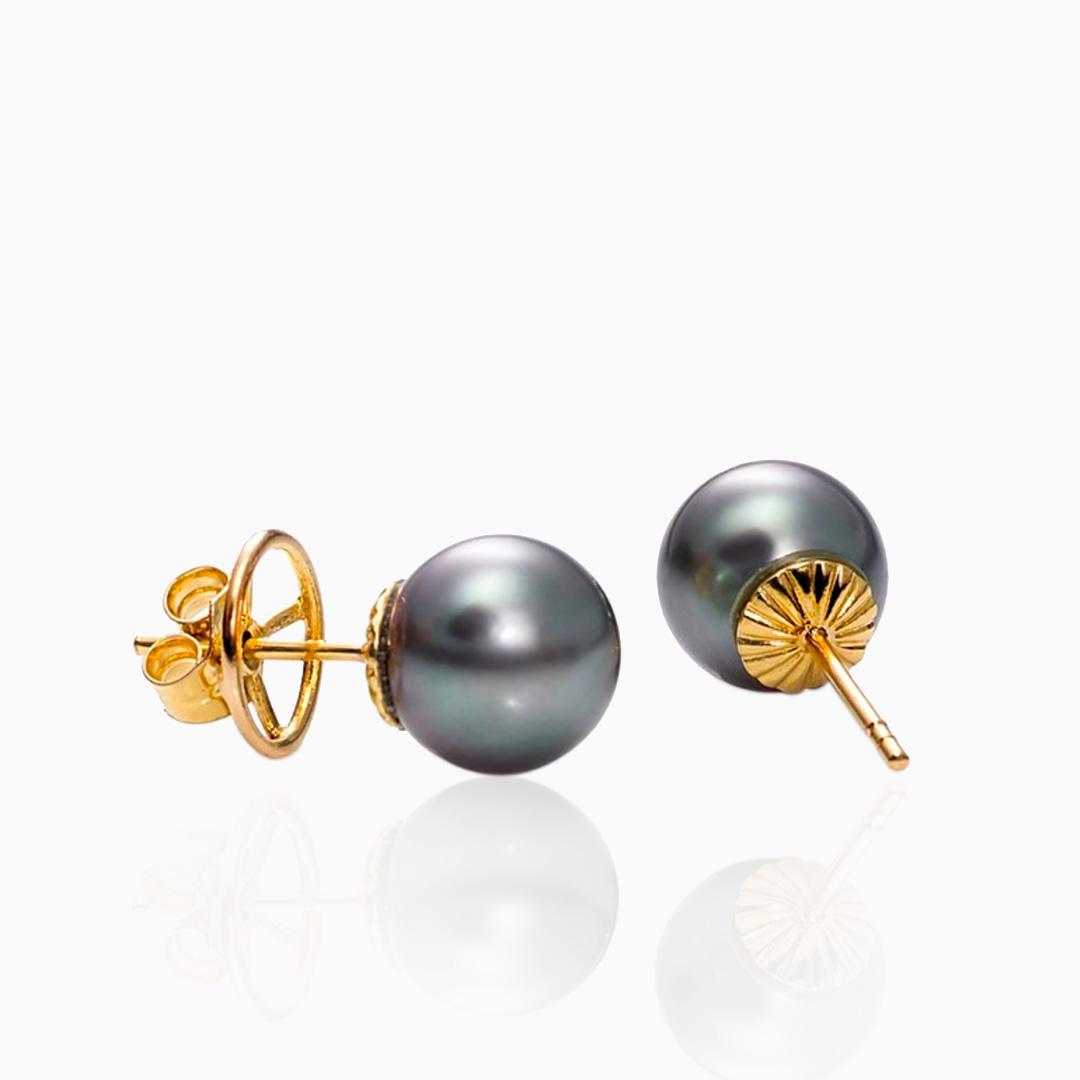 Pendientes Perlas de Tahití de Oro