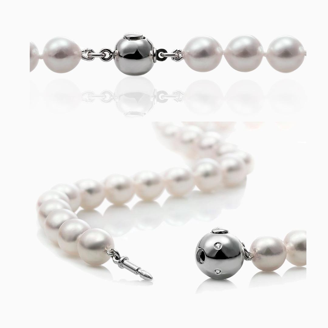 Collares Perlas cultivadas de Japón de Oro Blanco