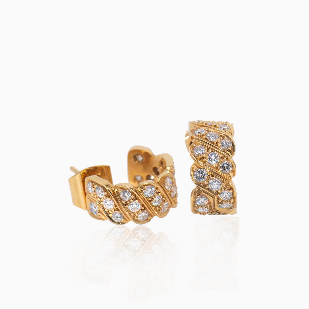 Pendientes Oro con Diamantes