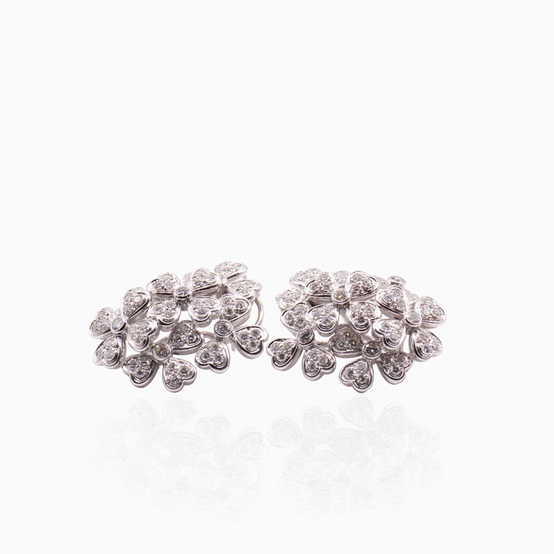 Pendientes Platino y Diamantes
