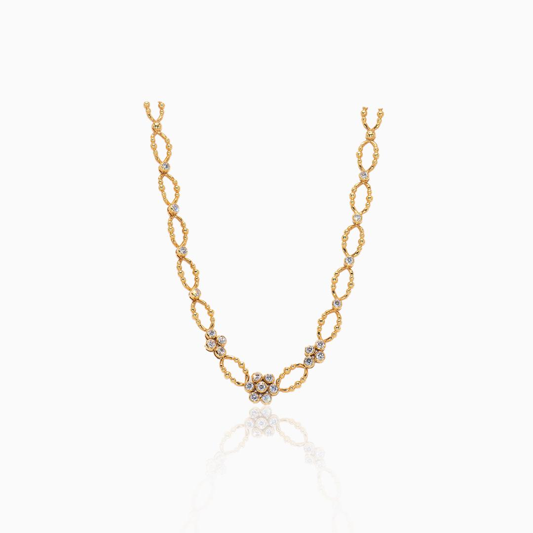 Collar Oro y Diamantes