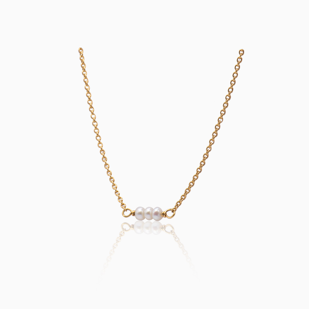Cadena de Oro y Perlas