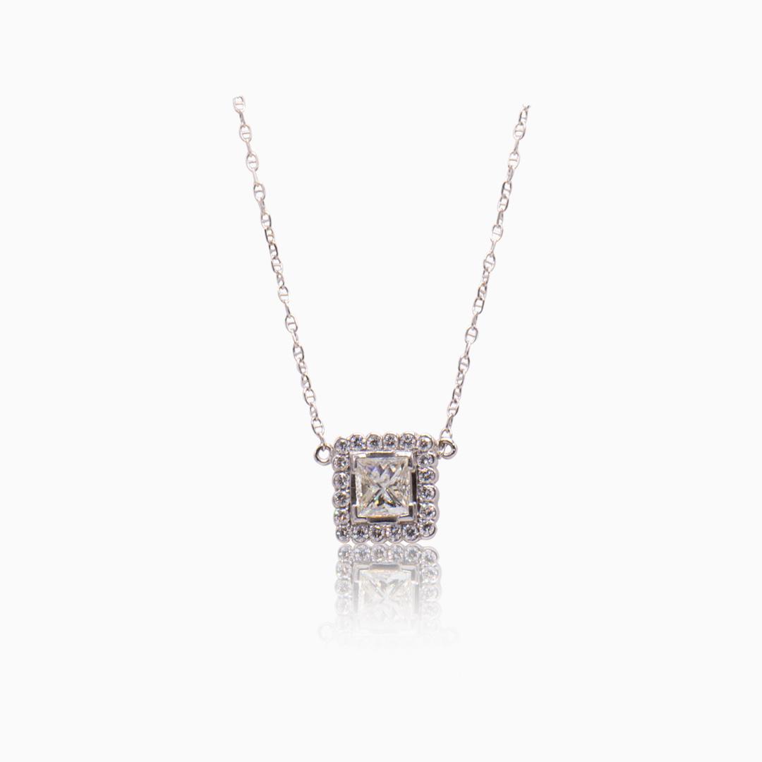 Gargantilla Oro Blanco y Diamantes