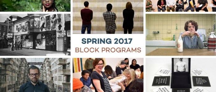 Announcing Spring 2017 Program Lineup