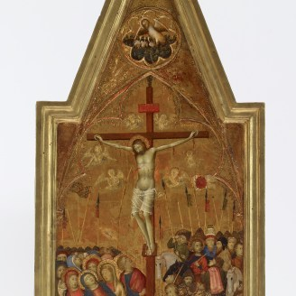 Naddo Ceccarelli, The Crucifixion, Siena, Italy, 1350–59. Tempera and gold on wood panel, 76 × 31.6 × 2.5 cm. The Walters Art Museum, Baltimore, bequest of Henry Walters, 37.737