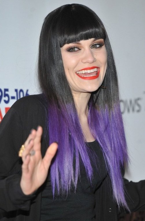 Jessie J with purple ombre hair