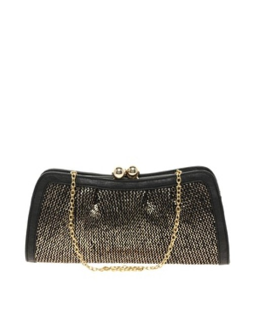 ASOS Metallic Oasis clutch holiday wardrobe bag