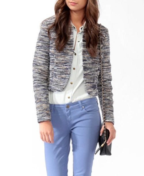 Boucle jacket coco chanel winter wardrobe holiday blazer