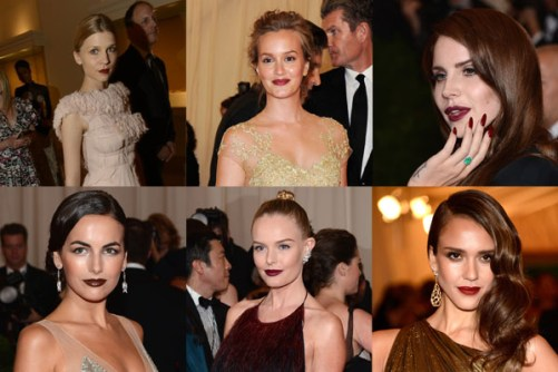 Celebrities with oxblood burgundy-lip