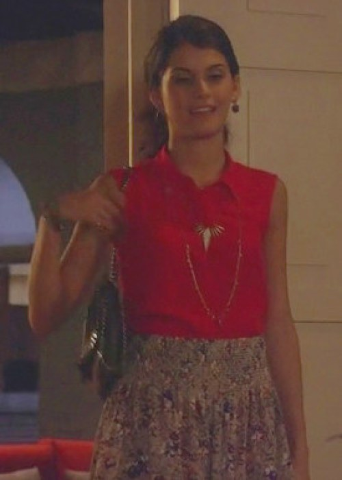 Sage stella mccartney gossip girl bag rebecca-taylor-inky-floral-shorts-and-gossip-girl-gallery