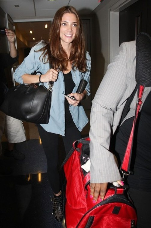 ashley-greene-chloe susanna buckle boots givenchy antigona bag